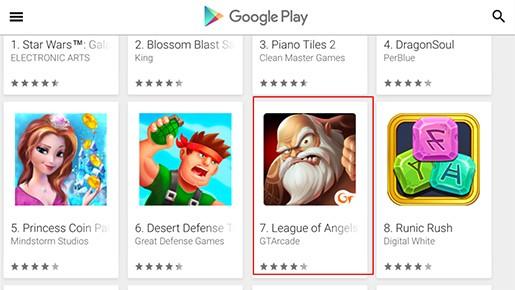 《女神联盟》在德英法Google Play排名前十