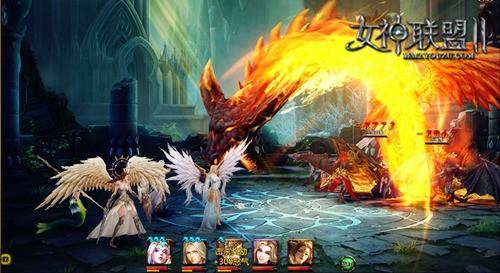 《女神联盟2》龙之女神战斗截图