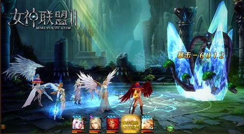 《女神联盟2》冰霜女神战斗截图