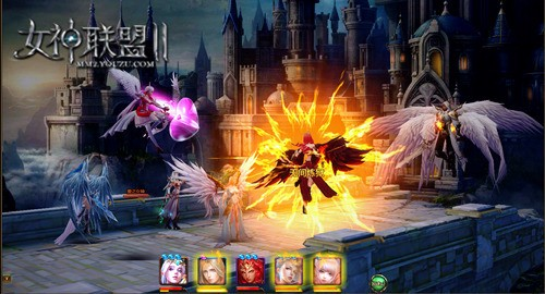 《女神联盟2》烈焰女神战斗截图
