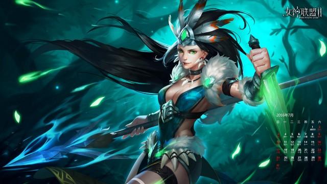 《女神联盟2》亚马逊猎手青翠夏日