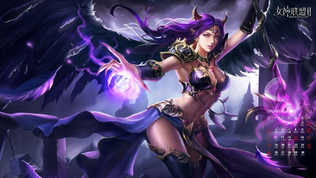 《女神联盟2》堕落天使魔法迎秋