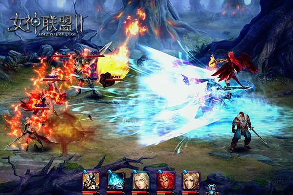 《女神联盟2》女神战斗截图