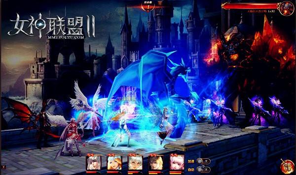 《女神联盟2》公会boss战