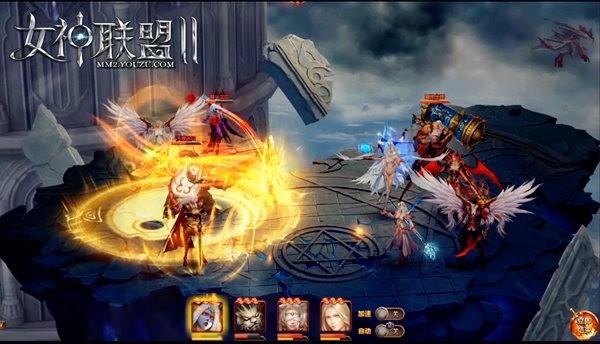 《女神联盟2》红将天禅武仙战斗