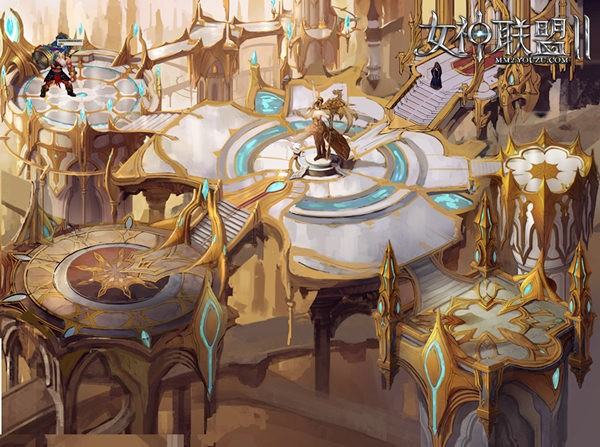 《女神联盟2》跨服主城首次开放