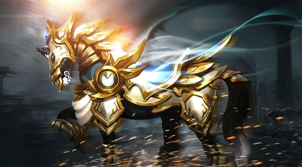 《女神联盟2》坐骑苍穹天马原画