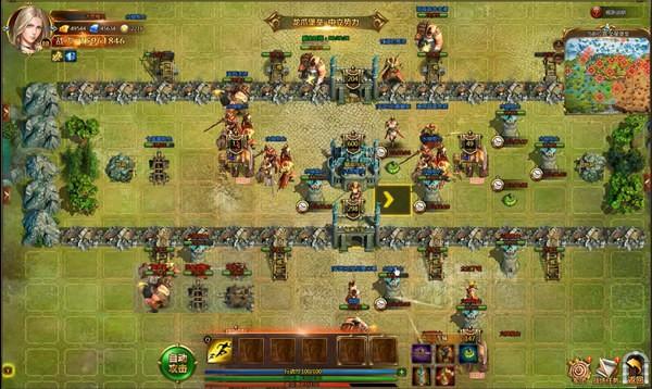 《女神联盟2》双方争夺堡垒