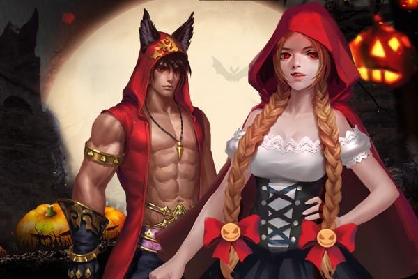 《女神联盟2》万圣节时装暗夜童话