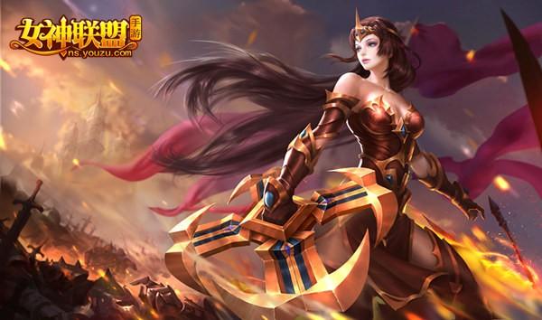 女神联盟手游 安吉丽娜原画