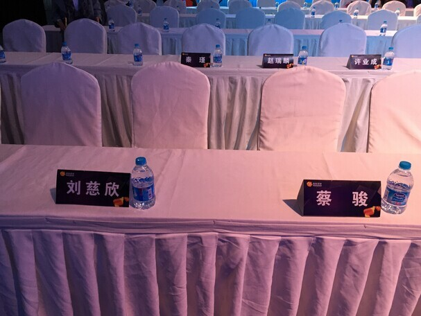 刘慈欣及蔡骏座位