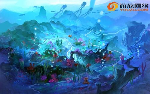 图4【场景原画-海底】