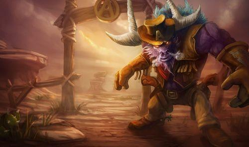英雄联盟lol牛头酋长游戏海报
