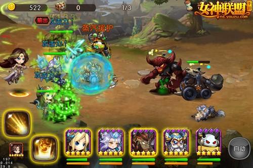 女神联盟手游战斗截图