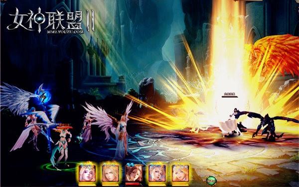 《女神联盟2》副本战斗截图