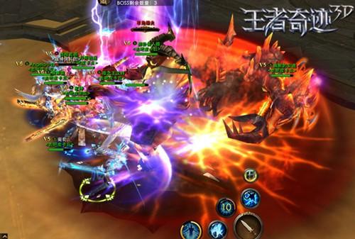 《王者奇迹3D》混战场面
