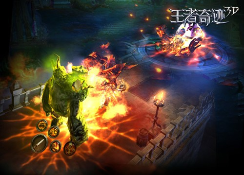 《王者奇迹3D》激爽的战斗画面