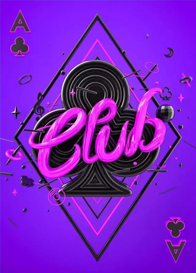 扑克牌A紫色细节图