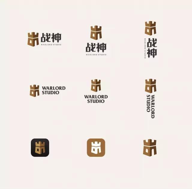 战神logo细节