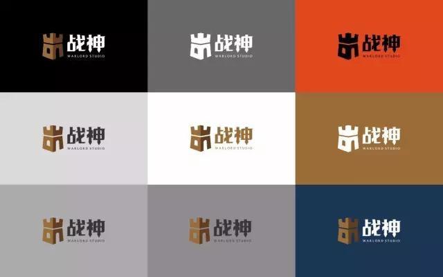 战神logo各种颜色