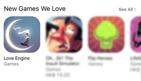 《爱心推手2》获App StoreApp Store 英文地区推荐